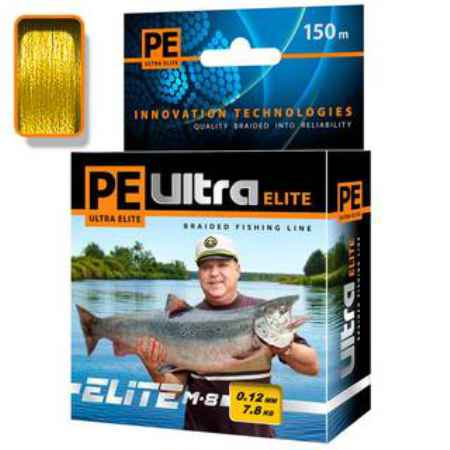 Купить Aqua PE Ultra Elite M-8 Yellow 150m (0,25mm/18,10kg)