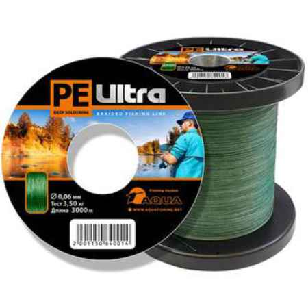 Купить Aqua PE Ultra Dark Green 3000m