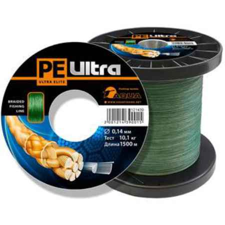Купить Aqua PE Ultra Elite Dark Green 1500m (0,30mm/28,50kg)