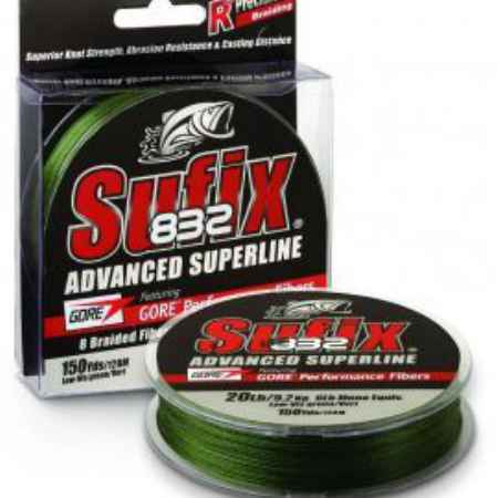 Купить Sufix 832 Braid Lo Vis Green 135м 0.20мм