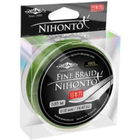 Купить Mikado NIHONTO FINE green 0,14 (100 м) - 9.70 кг.