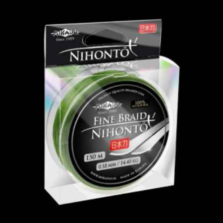 Купить Mikado Nihonto fine braid green 0,14 (150м) - 9,70кг