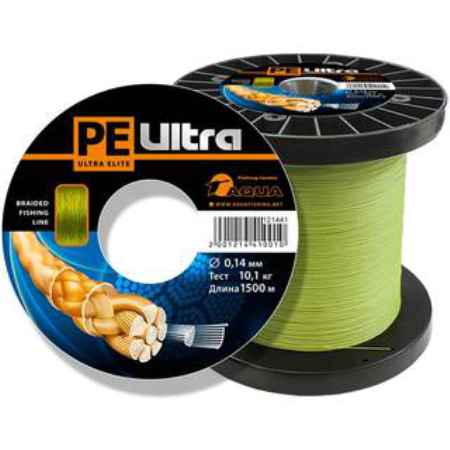 Купить Aqua PE Ultra Elite Olive 1500m (0,16mm/11,20kg)
