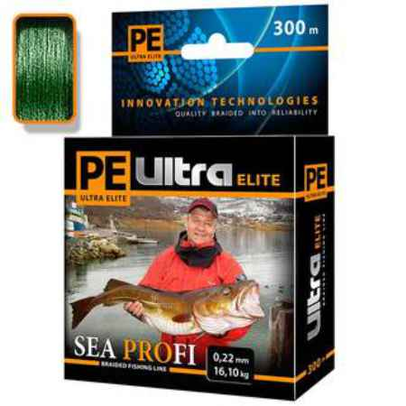Купить Aqua PE Ultra Elite Sea Profi Dark Green 300m (0,30mm/28,50kg)