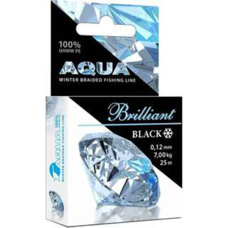 Купить Aqua Black Brilliant зимний 25m (0,12mm/7,00kg)