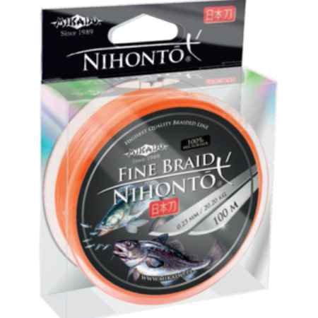 Купить Mikado NIHONTO FINE 0,18 orange (150 м) - 14.40 кг.