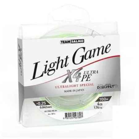 Купить Salmo LIGHT GAME Fine X4 (дл.100м/0.051мм/тест 2,15кг/цв.светло-зелёный.)