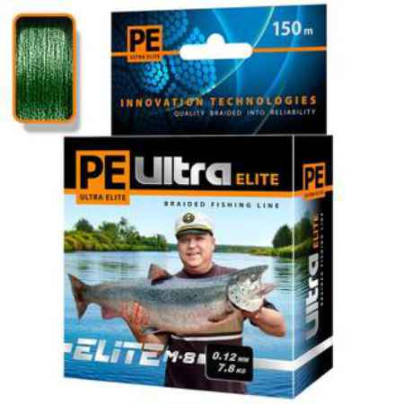 Купить Aqua  PE Ultra Elite M-8 Dark Green 150m (0,50mm/45,60kg)