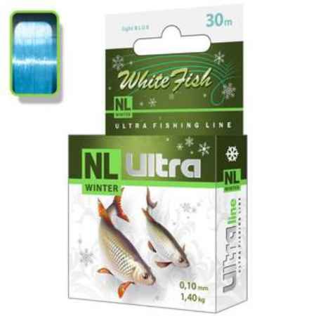 Купить Aqua NL Ultra white fish (Белая рыба) 30m (0,12mm / 1,8kg)