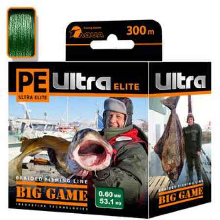 Купить Aqua PE Ultra Elite Big Game Dark Green 300m