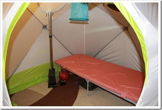 Как закреплять утеплитель на палатке?
