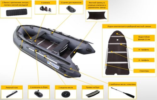 Лодка ПВХ Апачи 3500 СК: характеристики