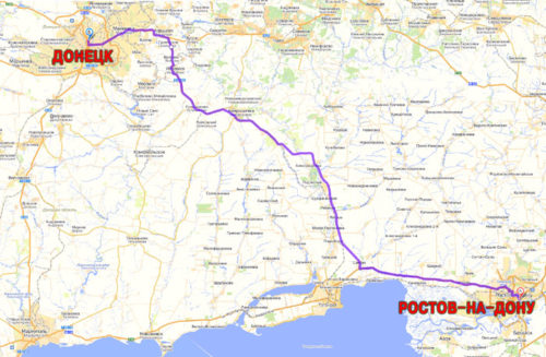 Как из Донецка доехать до Ростова