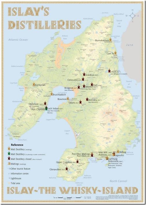 Карта дистиллериев Шотландии